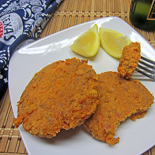 Cheez-It and Salmon Croquettes.