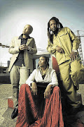 From left: Stoan Seate, Thandiswa Mazwai and Jah Seed made up Bongo Maffin.