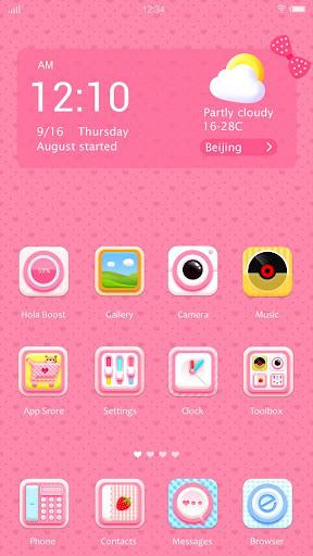 Pink Polka Hola Launcher テーマ