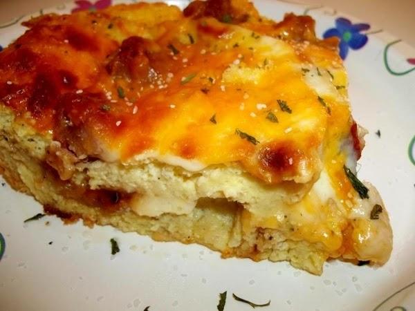 Layered Ham ~ N ~ Cheese Strata Recipe