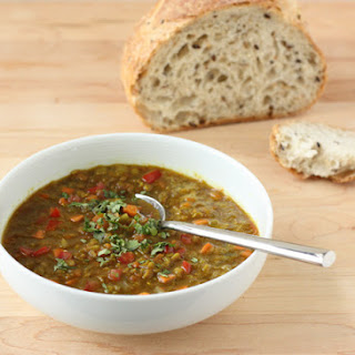 Fragrant Red Lentil and Tomato Soup.