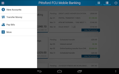 Pittsford FCU Mobile Banking- screenshot thumbnail