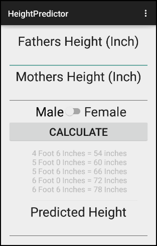 Medical Height Predictor