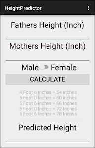 Medical Height Predictor screenshot 0