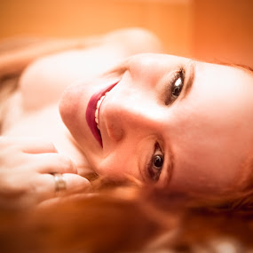 Ana by Gabriel Fox - People Portraits of Women ( redhead, face, sensual, sexy, ginger, nude, portrait, smile,  )