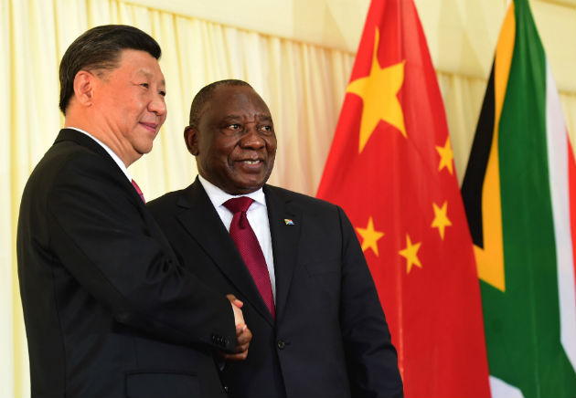 President Cyril Ramaphosa and President Xi Jinping of the People's Republic of China