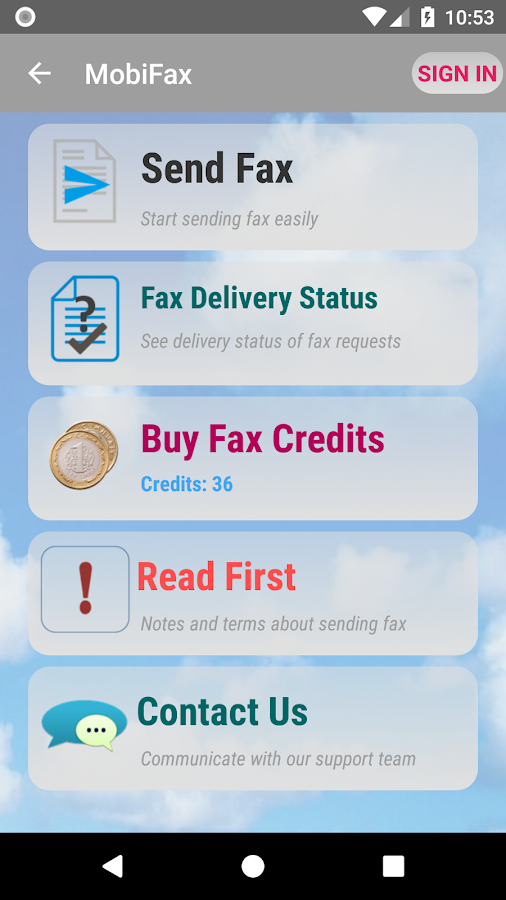 MobiFax - Quickly Send Fax- screenshot