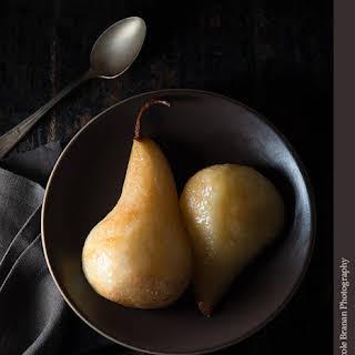 Ginger Honey Roasted Pears.
