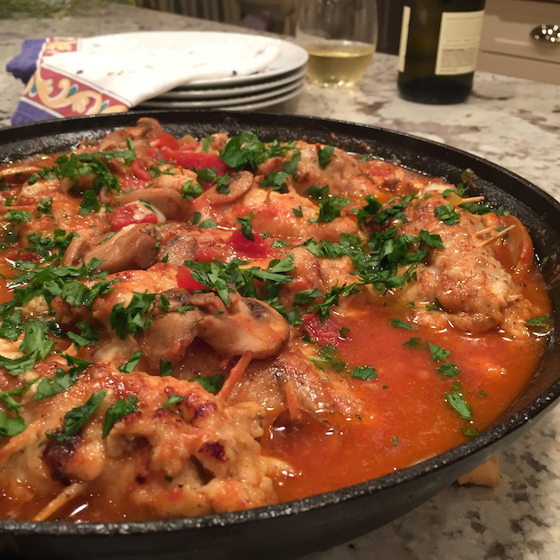 Chicken Cannelloni AKA Chicky Chicky Can Can Recipe