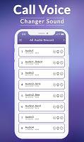 screenshot of Voice Call Changer - Best Voice Changer App