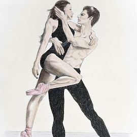 Dance Romance 1 by Ingrid Anderson-Riley - Drawing All Drawing