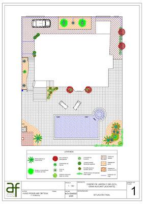 Diseño definitivo del jardín