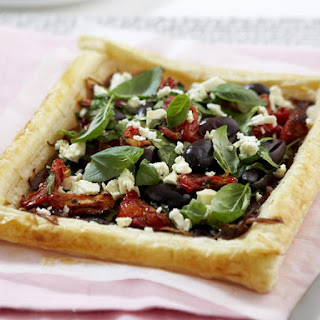 Caramelized Onion and Spinach Tart.