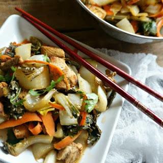 Stir-Fried Chicken and Bok Choy Recipe