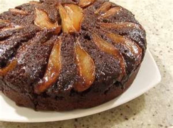 Upside-down Pear Gingerbread In Iron Skillet Recipe