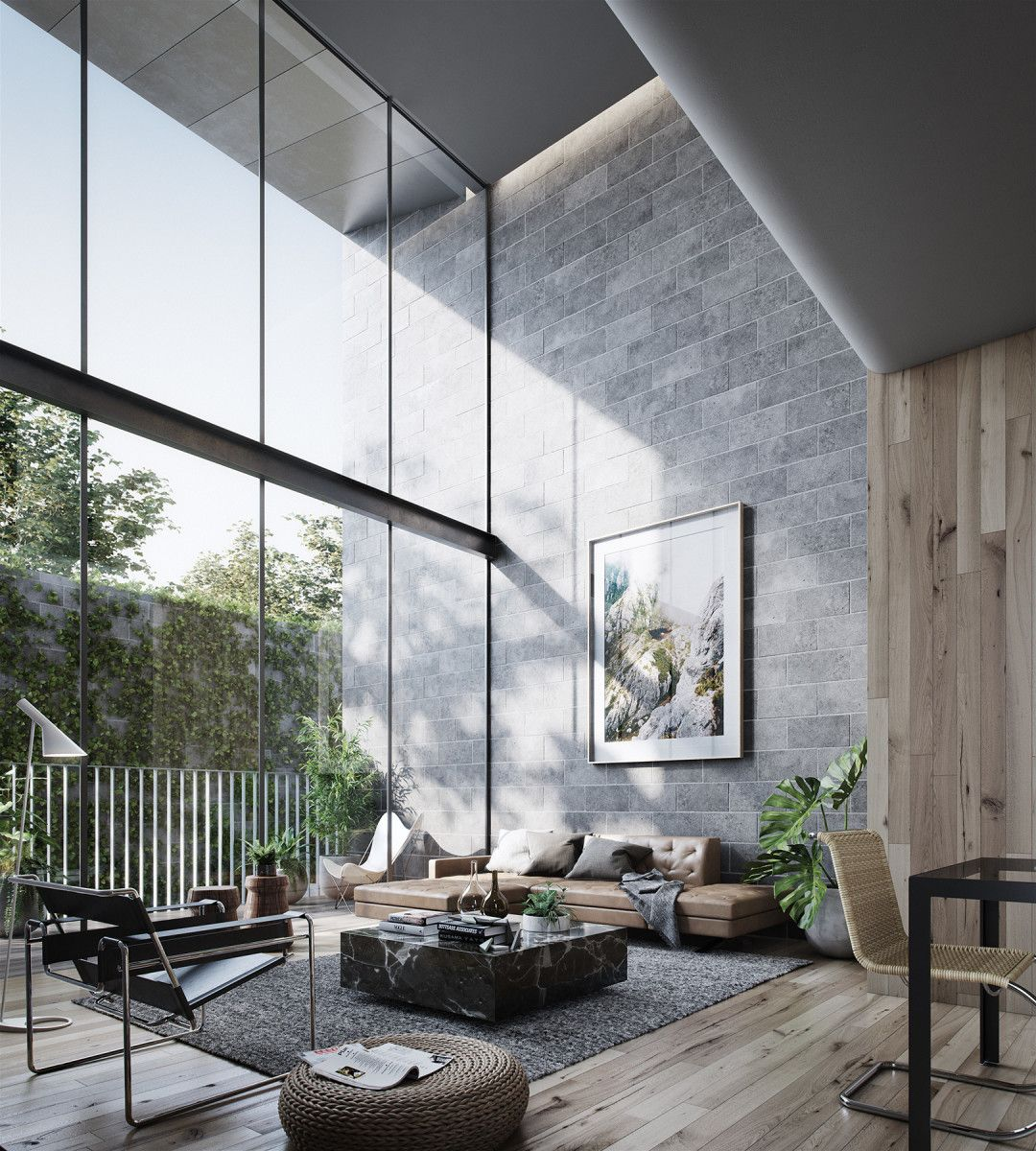 Hunian dengan gaya interior modern - source: pinterest.com