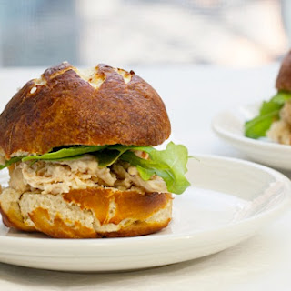 Ranch Chicken Sliders on Pretzel Rolls