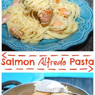 Salmon Alfredo Pasta