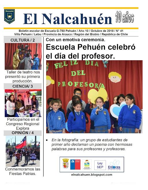 El Nalcahuén IMPRESO N° 41 (Octubre de 2018).