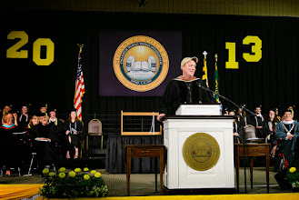 "Photo: Convocation's faculty speaker, Professor Jonathan Slade, wishes the Class of 2013 ""a beautifully imperfect life,"" one that ensures students will be on a ""perpetual act of discovery."""