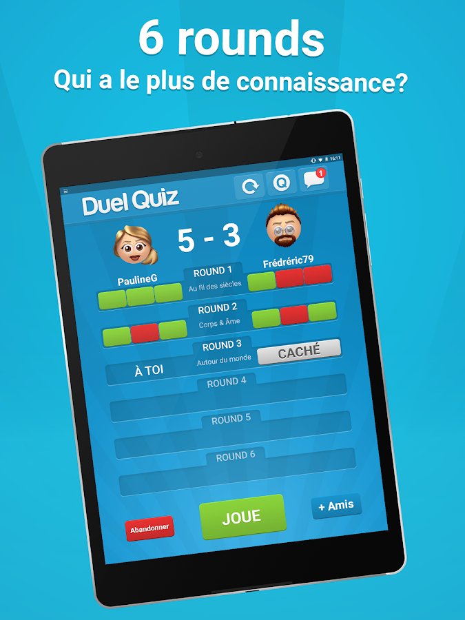 Duel Quiz – Capture d'écran