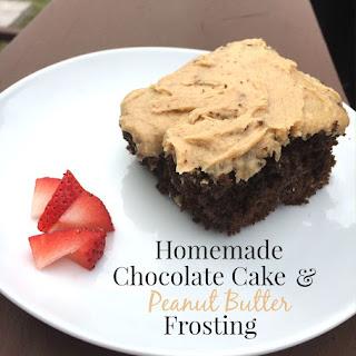 Homemade Chocolate Cake.