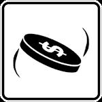 Flip a coin Icon