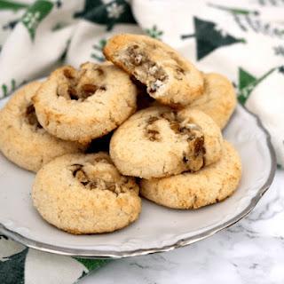 Low Carb Vegan Pecan Swirl Cookies.