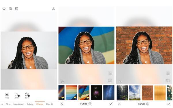 Foto de uma mulher negra sendo editada pelo AirBrush