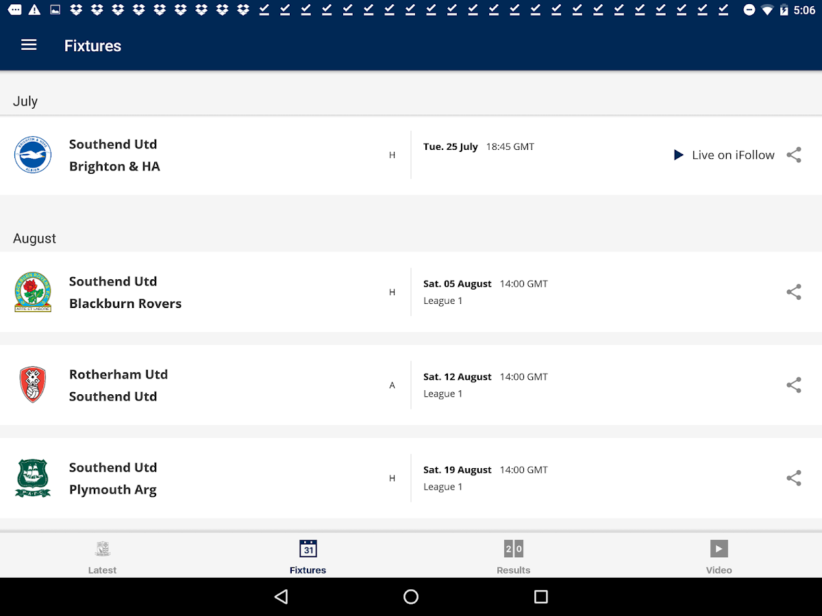 Southend United Official App- screenshot
