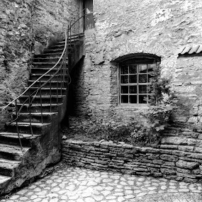 Stairs by Dirk Rosin - Black & White Buildings & Architecture ( tallinn,  )