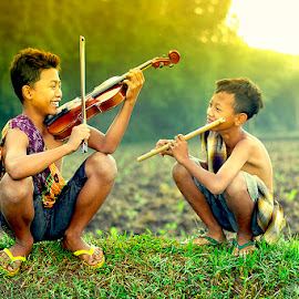 morning harmony by Haris Fallin - Babies & Children Children Candids ( children, children candids, village, people )