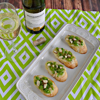 Crostini with Peas, Brie, and Honey