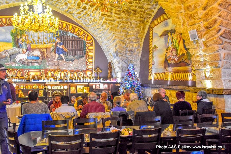 Ресторан в монастыре Ильи Пророка в Иерусалиме.