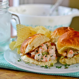 Shrimp Salad Sandwiches.