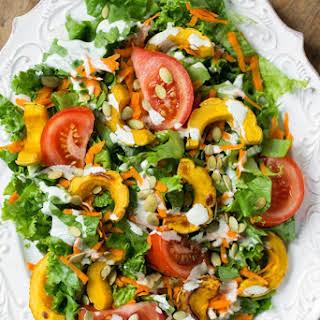 Ultra Creamy Hemp Salad Dressing + Salad.