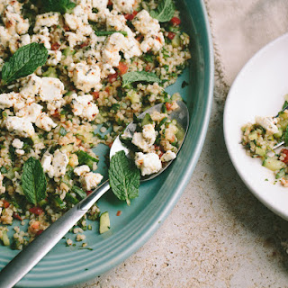 Bulgur Salad with Marinated Feta