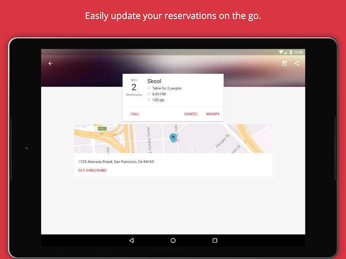 Screenshot 11 for OpenTable's Android app'