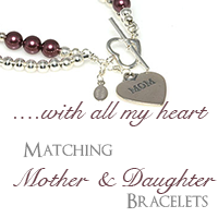 Tiffanys Matching Mother and Daughter Bracelets, With All My Heart