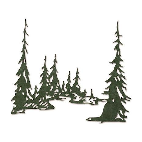 Tim Holtz Sizzix Thinlits Dies - Tall Pines