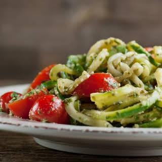 Zucchini Pesto Noodles.