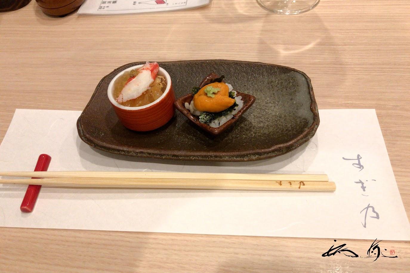 「ウニ丼」&「土佐酢蟹ジュレ」