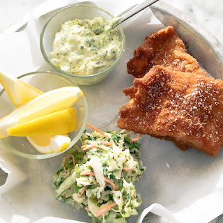 Fried Whitefish with Classic Coleslaw Recipe