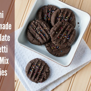 Chocolate Confetti Cake Mix Cookies