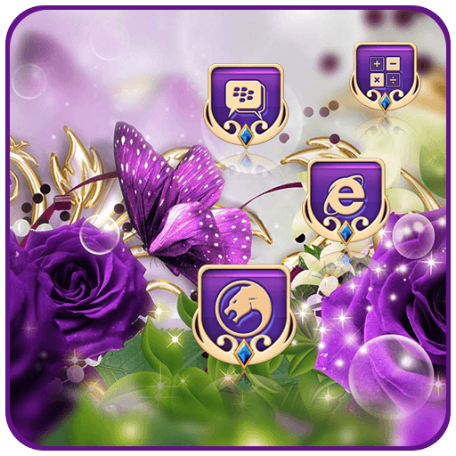 Purple Rose Butterfly