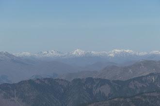 奥に三周ヶ岳・高丸・烏帽子山・笹ヶ峰・不動山など