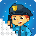 Police Color by Number Book - Pixel Art Pages icon