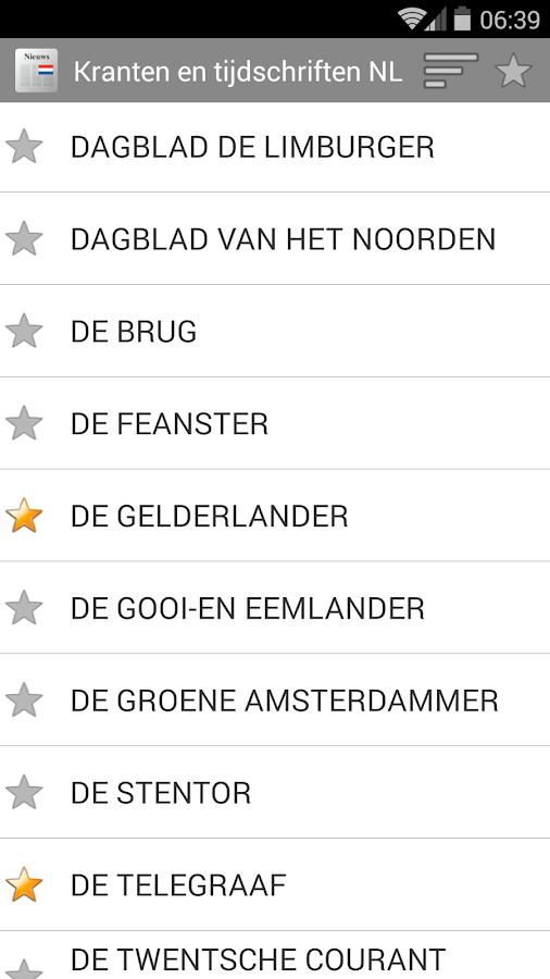 Kranten en tijdschriften NL - screenshot