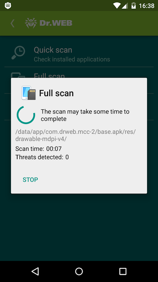 Screenshots of Anti-virus Dr.Web Light for iPhone
