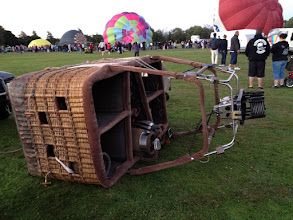 Photo: The basket will be attached to the balloon soon